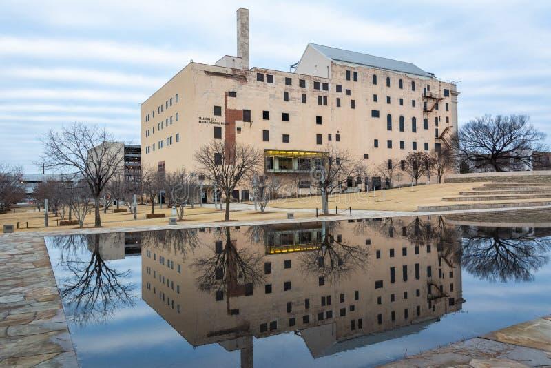 Oklahoma City nationellt minnes- museum i Oklahoma City som är reko royaltyfria foton