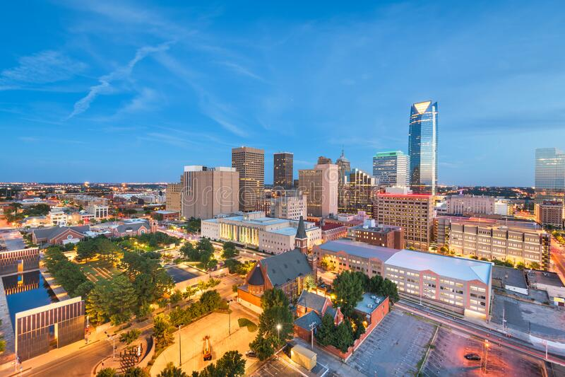 Oklahoma City, Oklahoma, Stany Zjednoczone Ameryki fotografia stock