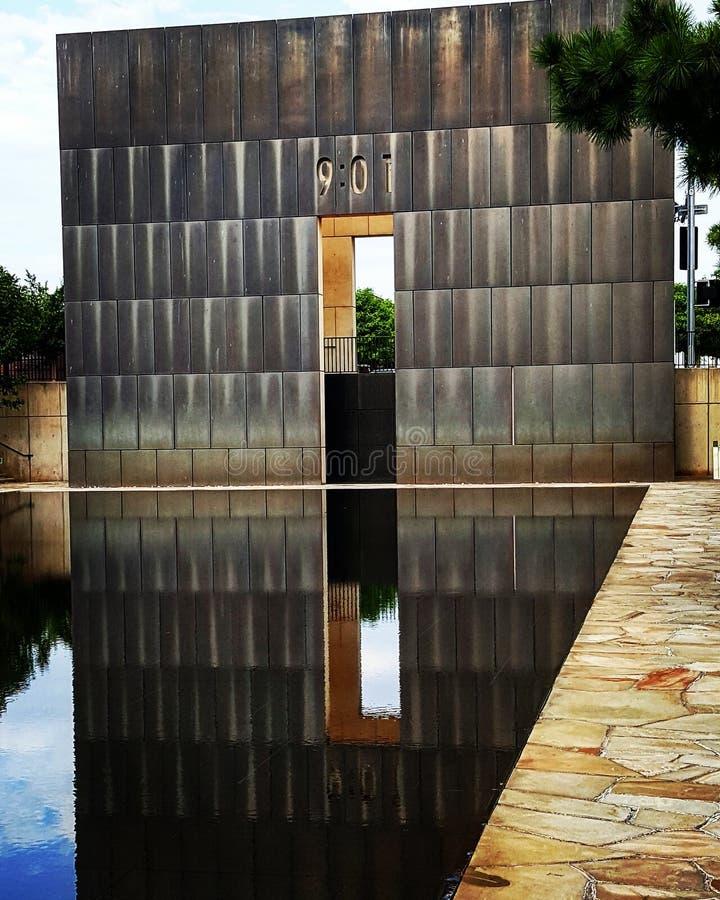 Oklahoma- Citybombardierung lizenzfreie stockfotos