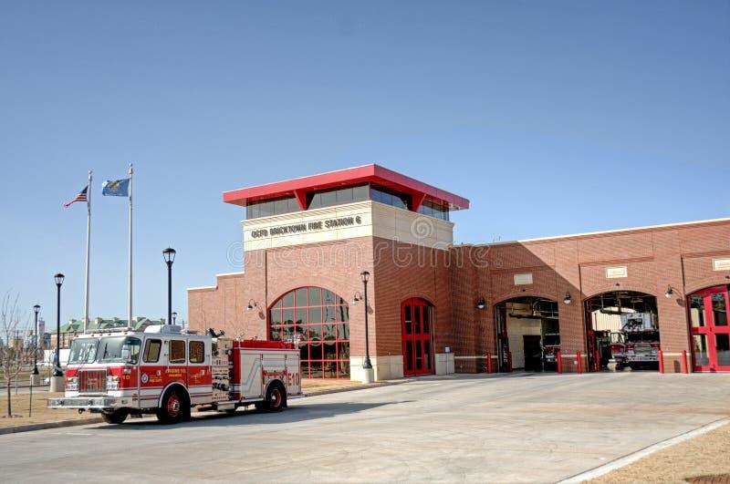 Oklahoma citybrandstation arkivbild