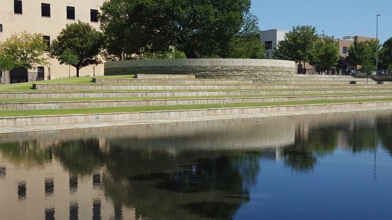 Oklahoma cityminnesmärke arkivfoto