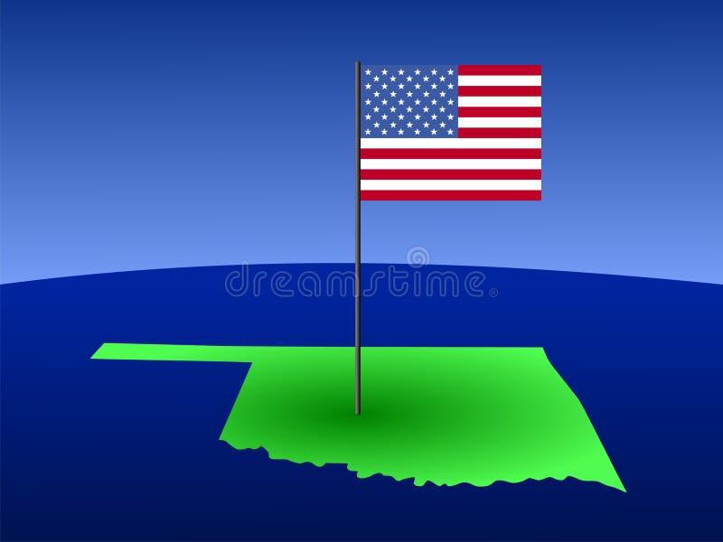 Download Oklahoma con la bandierina illustrazione vettoriale. Illustrazione di schema - 3143059