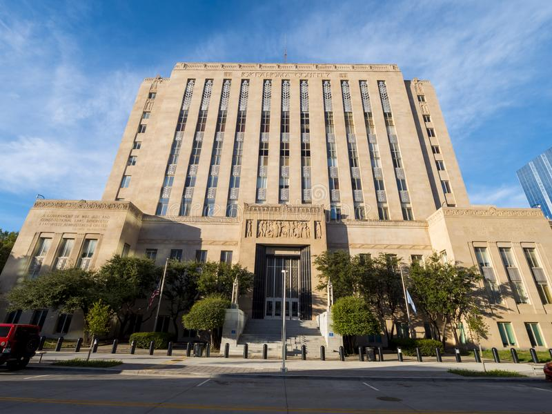Oklahoma County house in the center of Oklahoma City - OKLAHOMA CITY - OKLAHOMA - OCTOBER 18, 2017. Photography royalty free stock photography