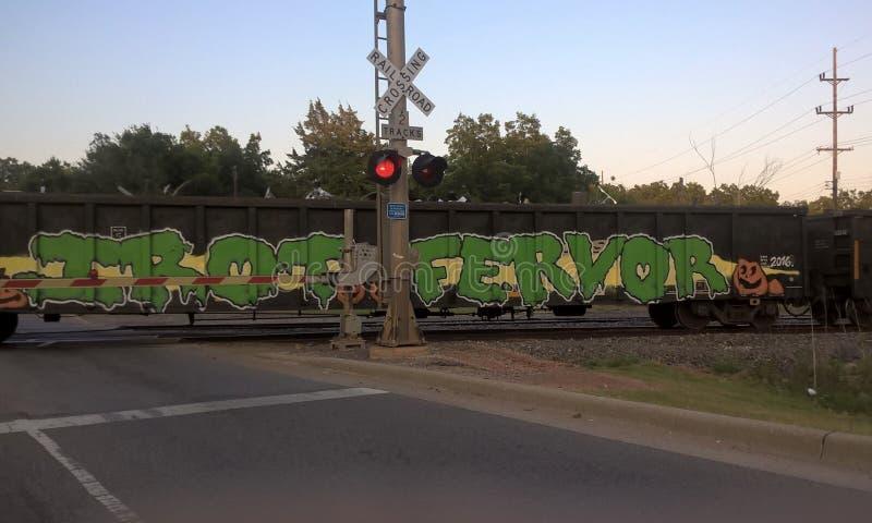 Oklahoma-Eisenbahn-Züge stockbild