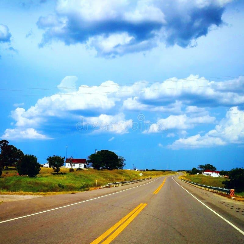 Oklahoma huvudväg fotografering för bildbyråer