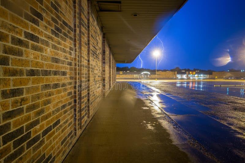 Oklahoma lightening i vår fotografering för bildbyråer