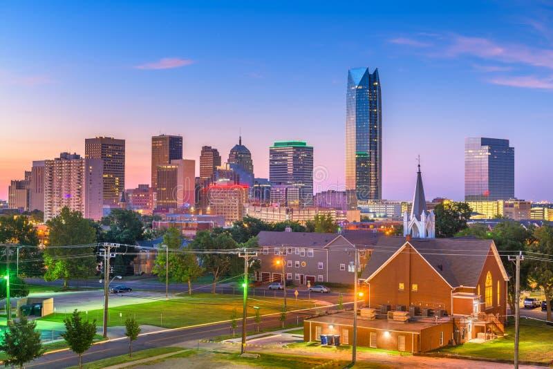 Oklahoma miasto, Oklahoma, usa linia horyzontu obraz stock