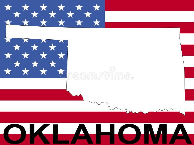 Oklahoma na bandeira ilustração stock
