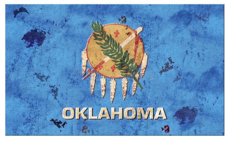 Oklahoma OK Flag Grunge Metal royalty free illustration