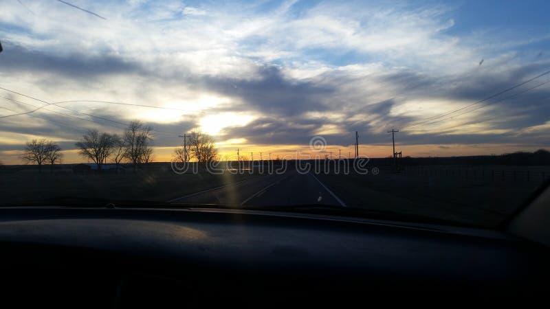 Oklahoma-Sonnenuntergang stockbild