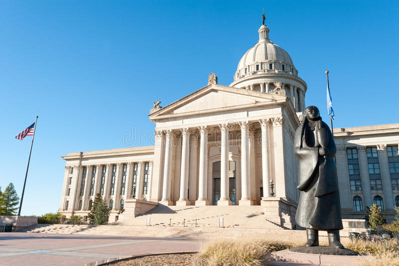 Oklahoma state capitol stock images