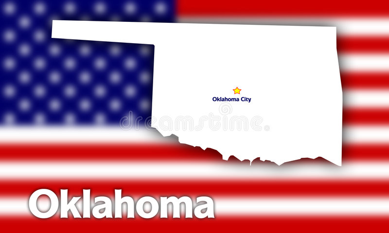 Download Oklahoma state contour stock illustration. Image of background - 3075671