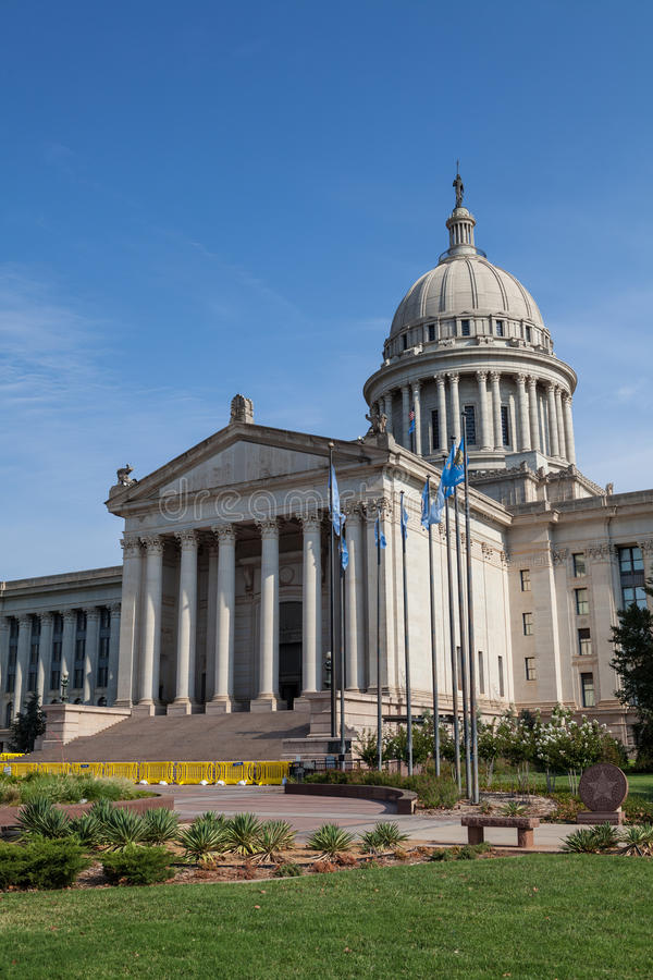 Oklahoma State House and Capitol Building royalty free stock photos