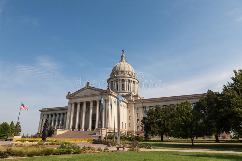 Oklahoma State House And Capitol Building Stock Photo