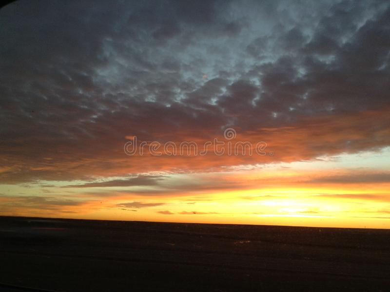 Oklahoma sunset stock image