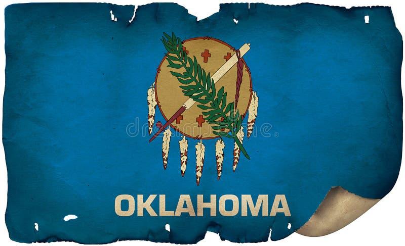 Oklahomas statsflagga för gamla papper royaltyfri foto