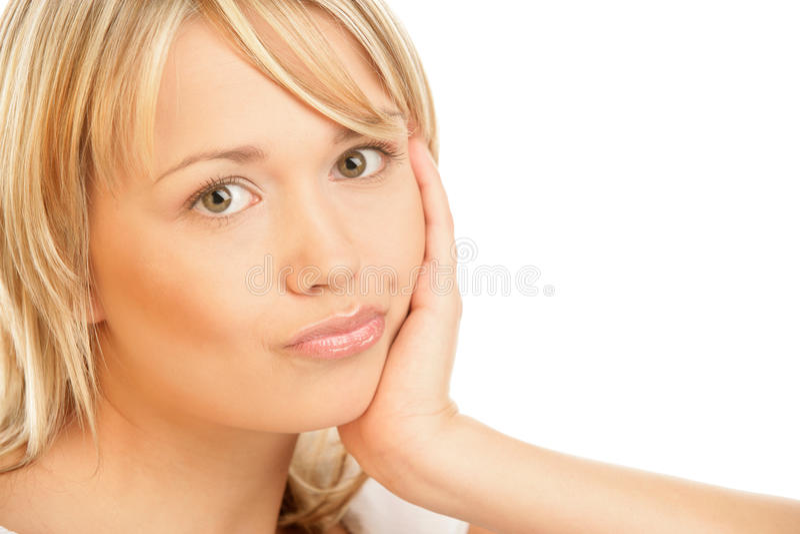 oklapnięta piękno kobieta fotografia stock