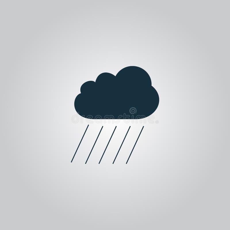 Oklarhet och regn vektor illustrationer