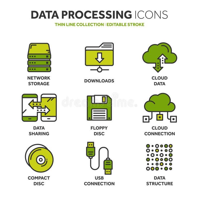 oklarhet som 2010 beräknar den microsoft smauen Landet och mappen upload mappar över internet Online-tjänst Data informationssäke vektor illustrationer
