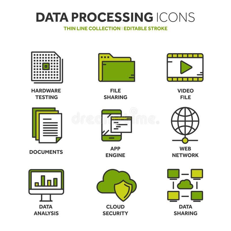 oklarhet som 2010 beräknar den microsoft smauen Landet och mappen upload mappar över internet Online-tjänst Data informationssäke stock illustrationer