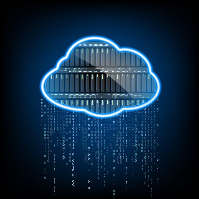 oklarhet som 2010 beräknar den microsoft smauen Server för datalagring Abstrakta teknologilodisar royaltyfri illustrationer