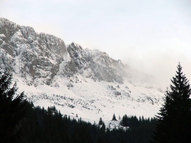 Oklarheter Räknade Bergmaximumsnow Arkivfoton