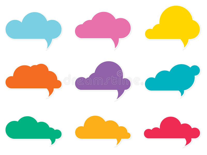 Oklarhetsanförandebubblor stock illustrationer