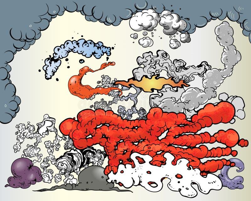 oklarhetsstrålar stock illustrationer