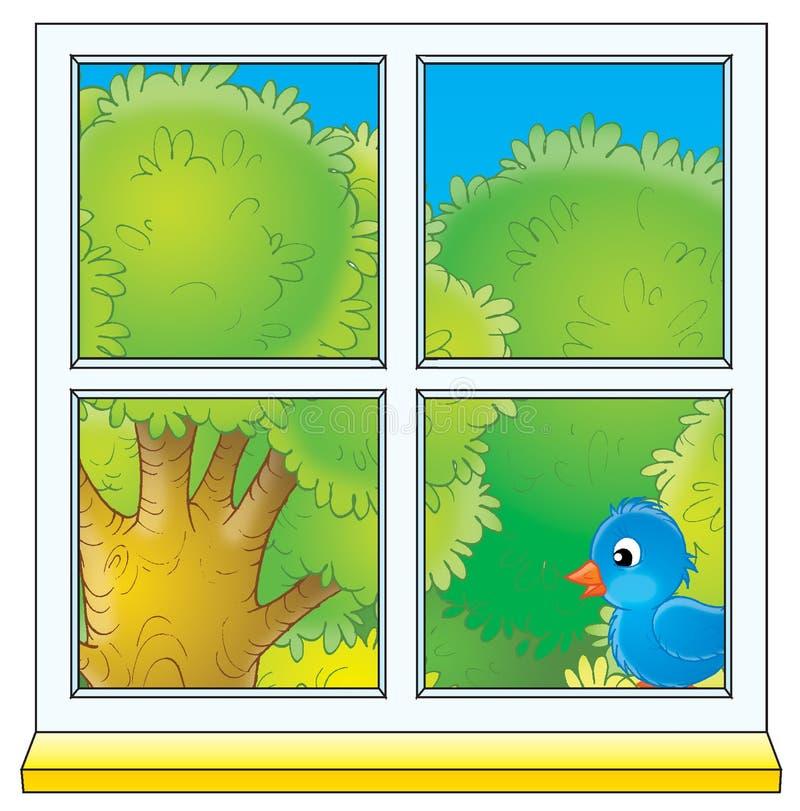 Okno royalty ilustracja