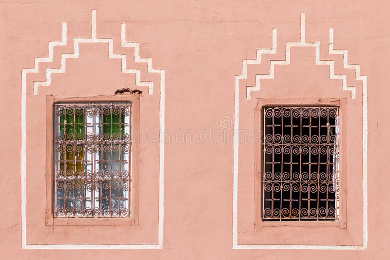 okno arabskich zdjęcie royalty free