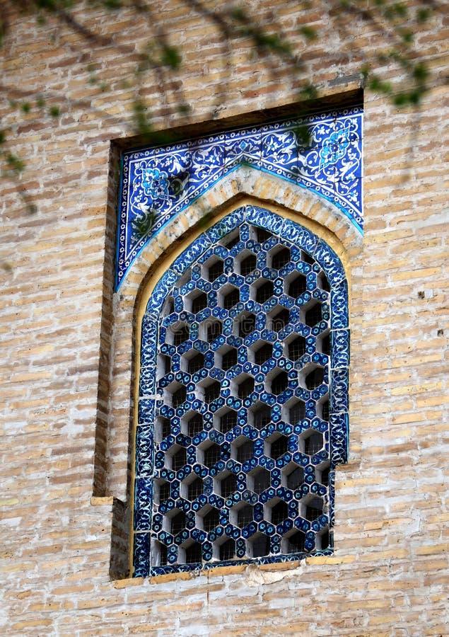 Okno Bibi-Khanym meczet, Samarkand, Uzbekistan obrazy royalty free