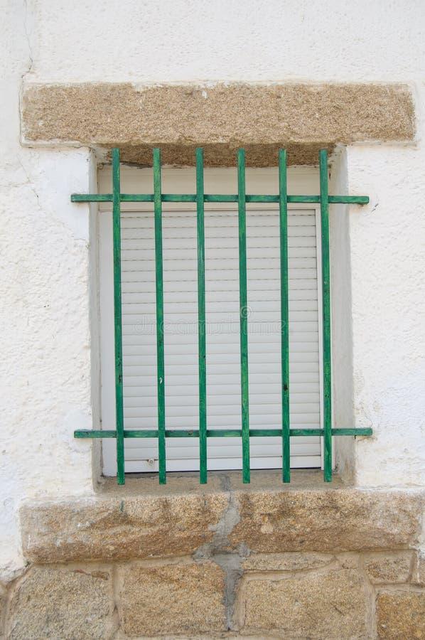 Okno dom w Starej wiosce w Hiszpania zdjęcia royalty free