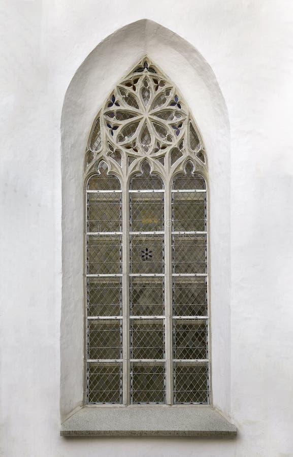 Okno Gocka katedra zdjęcie stock
