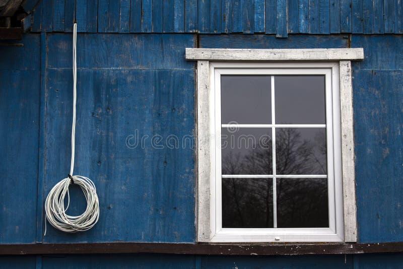 Okno i drut obrazy stock