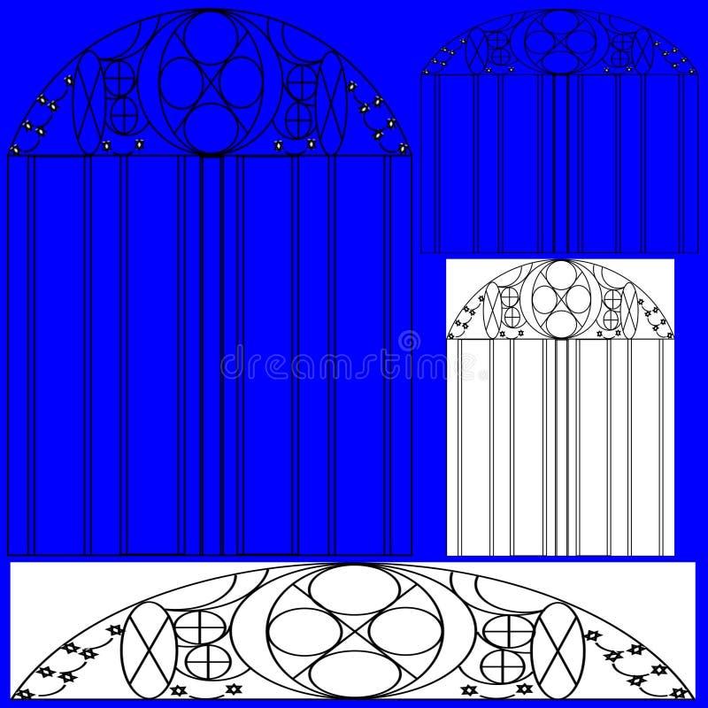 Okno i drzwiowy projekt ilustracja wektor