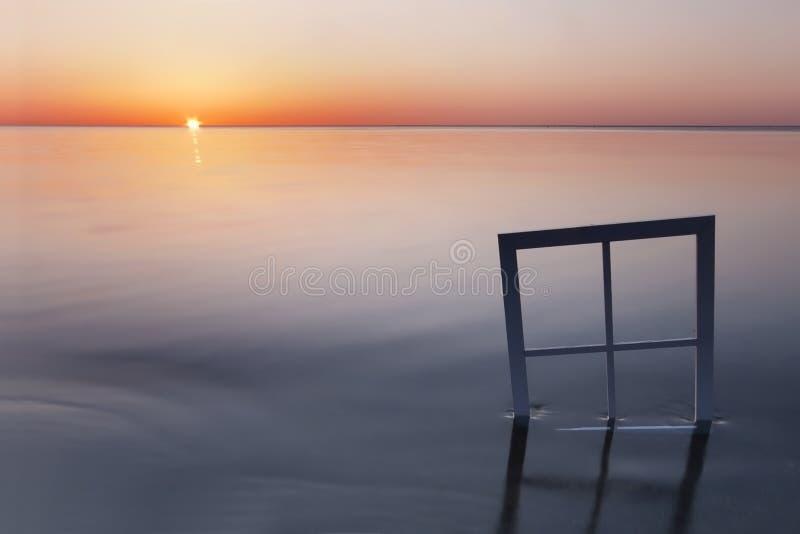 Okno jezioro fotografia stock