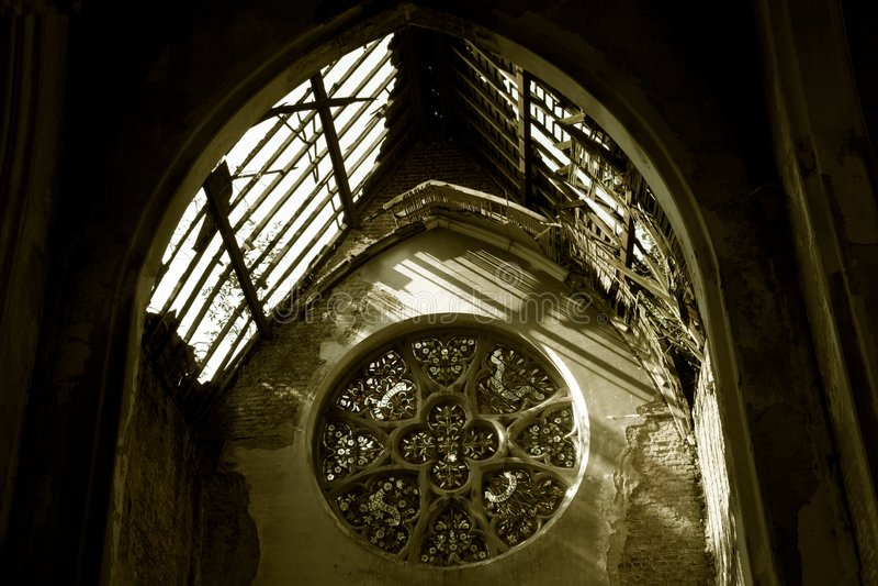 okno kościoła zdjęcie royalty free