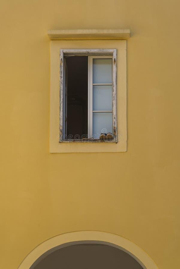 Okno, Krk, Chorwacja fotografia royalty free