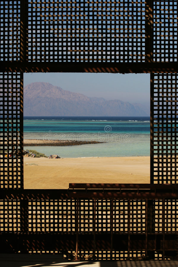 Okno na morzu obrazy stock