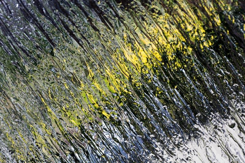 Okno nawierzchniowy makro- barwiony abstrakcjonistyczny tło wysokiej jakości zdjęcie stock