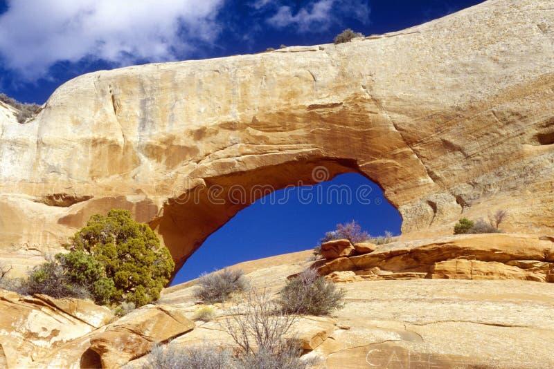 Okno skały łuk w południowym UT fotografia stock
