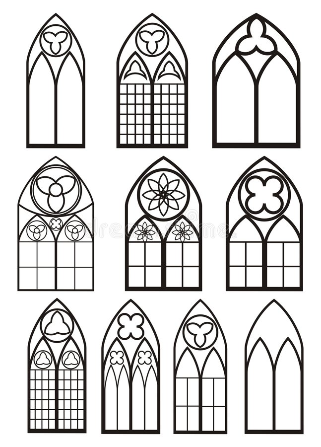 okno stylowi okno royalty ilustracja