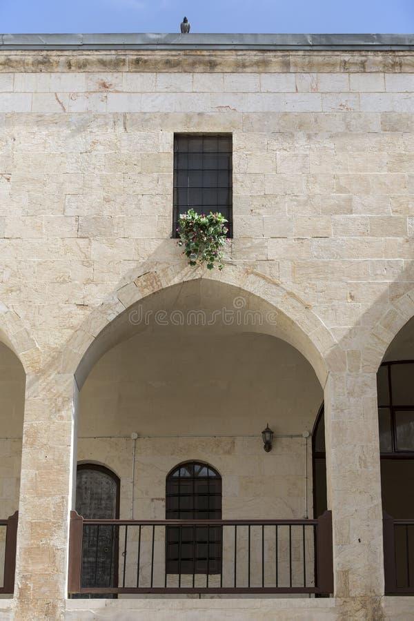 Okno tradycyjny domestik dom w Gaziantep, Turcja zdjęcia stock
