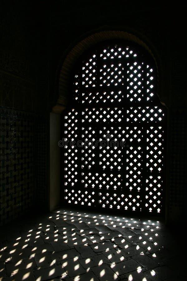 okno ucierał alhambra zdjęcie stock