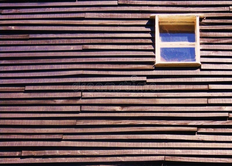 Okno w drewnie obraz stock
