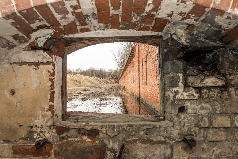 Okno w forcie obrazy stock