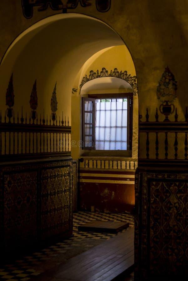 Okno w monasterze, Meksyk, Meksyk zdjęcia royalty free