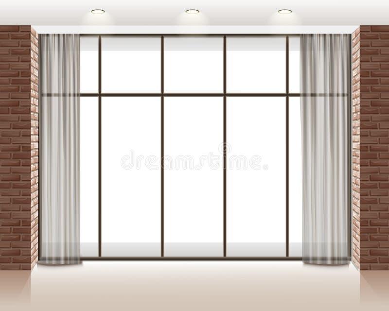 Okno w pokoju ilustracji