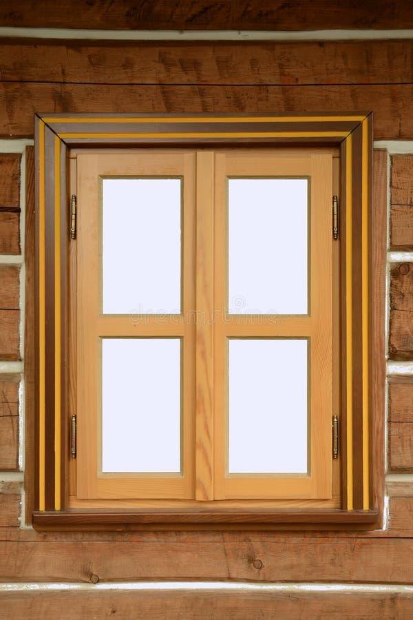 Okno z drewnianą ramą fotografia stock