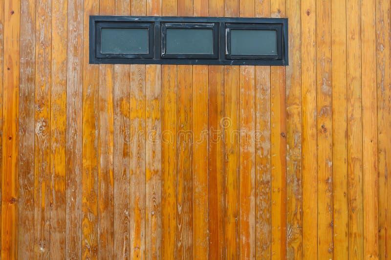 okno z Drewnianym tekstury tłem zdjęcia royalty free